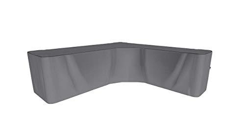 SORARA Schutzhülle gartenmöbel Abdeckung für Ecksofa   L Form Lounge abdeckplane   Grau   300 x 300 x 98 x 70   Wasserabweisend