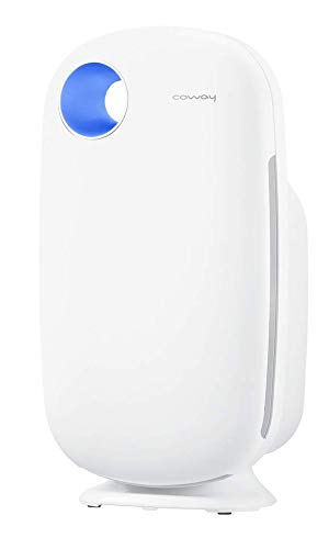 Coway Sleek Pro Professional Air-Purifier (AP-1009), Removes 99.97% of Airborne pollutants, CADR: 303 cubic m/hour Coverage Area: 355 sq. ft (Pre Filter, Patented Urethane Carbon Filter & Green Anti-Virus True HEPA Filter)