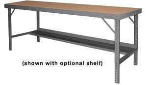 """Durham Mfg (Old Hodge Benches), Basic Workbench-With Tempered Hardboard Over Steel Top, Wbf-Th-3660-95, Overall Size: 60 X 36"""", Wt. (Lbs.): 145, Wbf-Th-3660-95"""