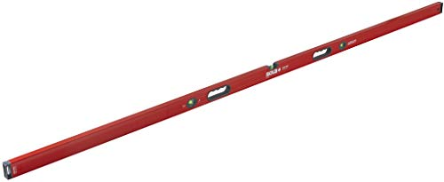 SOLA LSB96 Big Red Aluminum Box Beam Level with 3 60% Magnified Vials, 96-Inch