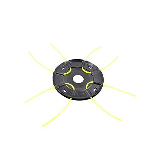 JIAWA Mäherkopf Runder Eisen Gras Kopf Metallmäherkopf mit 4 Linien Mähteile Garten Elektrische Zubehör Werkzeug Zubehör