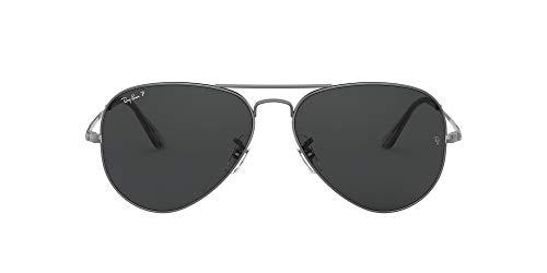 Ray-Ban 0RB3689 Gafas, GUNMETAL, 62 Unisex