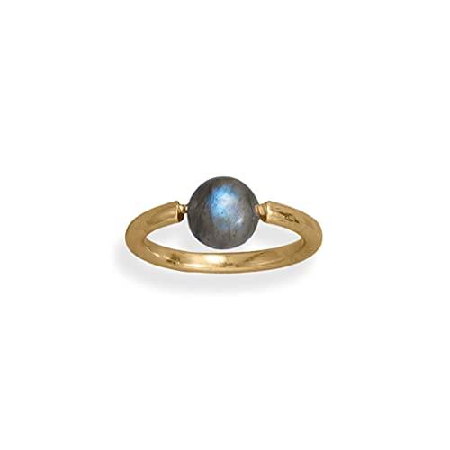 JewelryWeb Mujer 0.925 plata redonda multicolor Labradorite