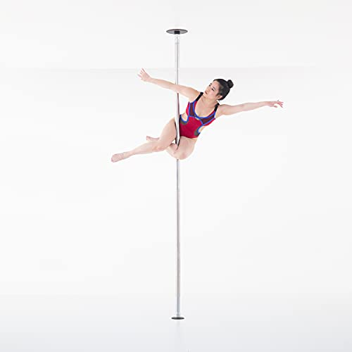 LUPIT POLE Professional Stripper Pole for Home - G2 Classic Stainless Steel Dance Pole - 45mm (1.77in) – Spinning and Static Mode - Portable and Removable Fitness Dancing Pole