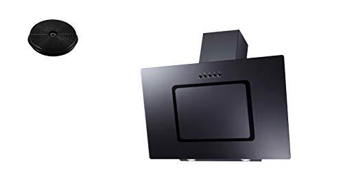 respekta Dunstabzugshaube Schräghaube Wandhaube Esse kopffrei 90 cm schwarz LED