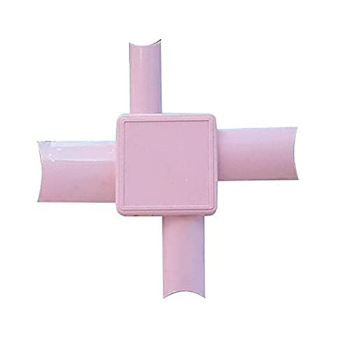 Easy French Nail Applicator, French Tip Dip Nail Art Tool, Professional Edge Painting Tool voor acrylnagels (Pink 1PCS)