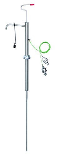GROZ 316 스테인리스 스틸 수직 리프트 안전 드럼 펌프 15-55 갤런 드럼 사용 가연성 및 가연성 미디어 FM 승인 (44132)