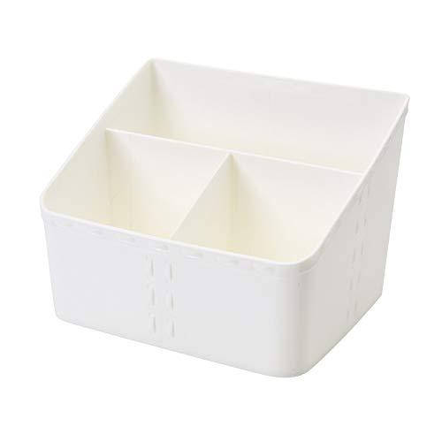 xinlianxin Organizador de maquillaje de plástico para cosméticos, caja de almacenamiento de cosméticos, cajón para el hogar, oficina, escritorio, caja de almacenamiento de joyas (color blanco L)