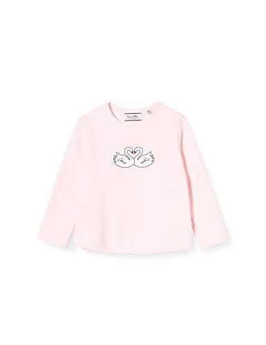 Sanetta Baby-Mädchen FIFTSEVEN Hellrosa Weißes Sweatshirt mit zurückhaltendem Schwanen-Artwork in Rosa Fiftyseven, 074