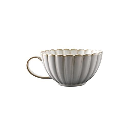 XDYNJYNL Simplicidad Café de porcelana, 12.68oz / 375ml Tazas de leche ecológicas Capuchino Tazas Tazas de té tazas de tazas Taza de bebida Taza de bebida Tumblers con la manija para el batido de caca