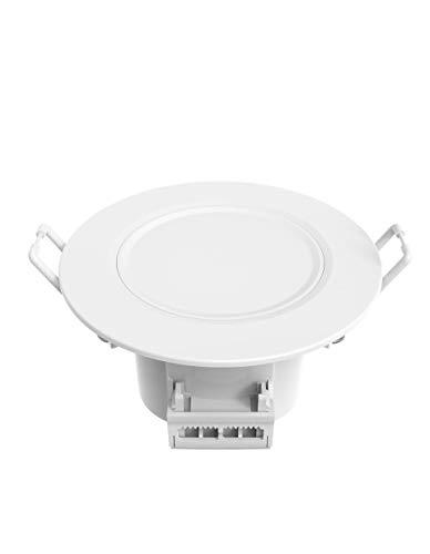 Faretto da incasso – bianco – speciale bagno – IP 65 – 6,5 Watt – 500 lm – 2700 K – 100°