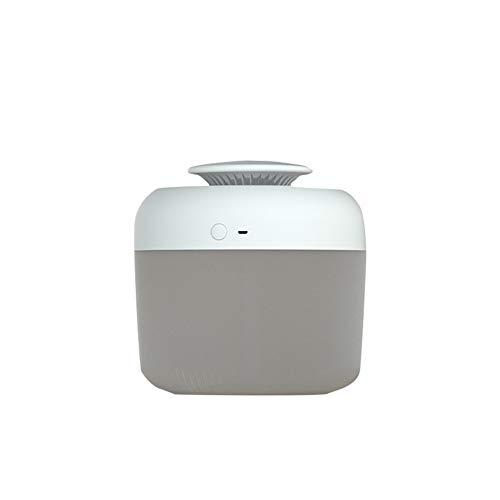 2,4 litros Grande Capacidad USB Ultrasónico Aire Humidificadores Aceite Esencial Aroma Difusor Aromaterapia con Luz de Noche para Hogar Oficina,Blanco