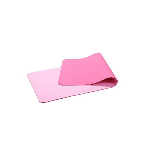 Tapis de Yoga épais Femmes | 183 * 61 cm 6 mm d'épaisseur Double Couleur antidérapant TPE Tapis de Yoga Exercice Tapis de Sport pour Fitness-Beige-