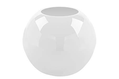 Fink Vase Moon - Tischvase - Hochzeitsdeko aus Glas Opal weiß H 21 cm D 25 cm