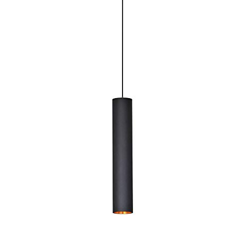 Lampada da soffitto a cilindro creativo, lampada a sospensione a LED, lampada a tubo lungo, lampade a sospensione in ferro battuto a sospensione per scale a tubo lungo Sala da pranzo (30CM)