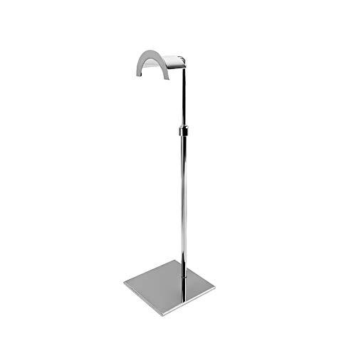 LUYION Metall Handtaschenhalter Verstellbare Höhe Verdicken Verstärkung Taschenschal Hutständer Halter,Silver