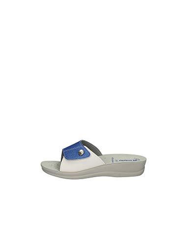 INBLU Ciabatte Pantofole Donna Aperte Regolabili Velcro Art. VR45 (37, Jeans)