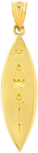 NC110 Colgante de Tabla de Surf Hawaii de Oro Amarillo