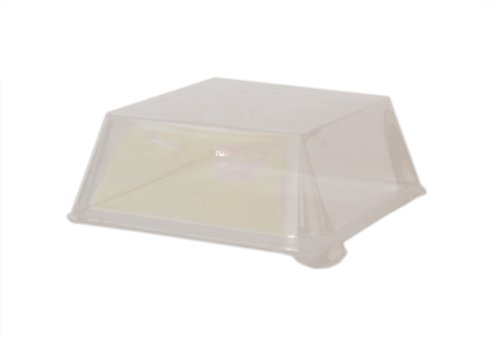 PacknWood Clear Finally popular brand Plastic Lid for Sugarcane 10. Rectangular Plate 35% OFF