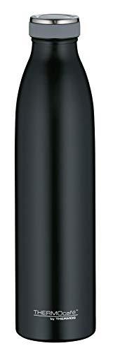 ThermoCafé by THERMOS 4067.232.075 Thermosflasche TC Bottle, Edelstahl Mat Black 0,75 Liter, 12 Stunden heiß, 24 Stunden kalt, BPA-Free