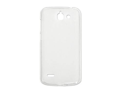 etuo Handyhülle für Huawei Ascend G730 - Hülle, Silikon, Gummi Schutzhülle - Weiß