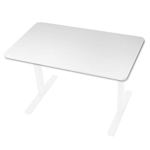 Duronic TT127WE Sobremesa para marco de escritorio, tabla de 120 cm x 70 cm compatible con la gama de marcos Duronic TM para crear estaciones de trabajo ergonómicas - Blanco