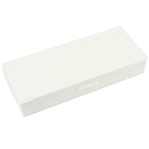 uxcell Beige Plastic Covered Microscope Glass Case Slide Box for 60 Slides