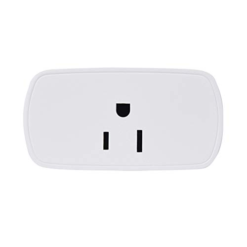 Smart Wifi Plug Wireless Mini Outlet Remote Control All Household Equipment Compatible with Alexa & Timer Function Suitable for Home Appliances 1 Pcs (White)