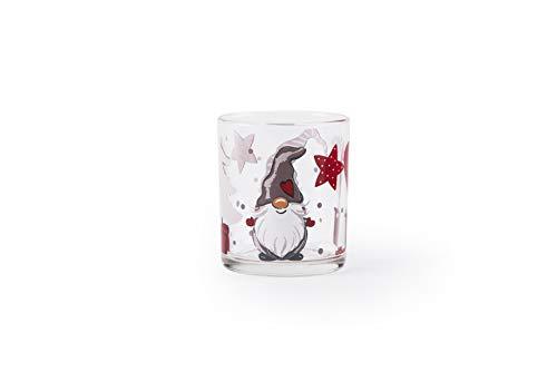 Excelsa Gnomo - Juego de 3 vasos de cristal de 25 cl