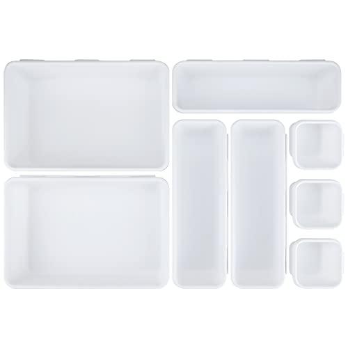 Portaoggetti per cassetti, set di 8 unità in plastica, per cassetti, separatori organizer in...