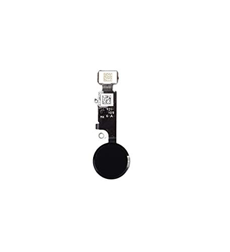 Smartex® Home Button Flexkable kompatibel mit iPhone 8 - Schwarz Homebutton Schalter Ersatzteil   Nur ästhetische Funktion