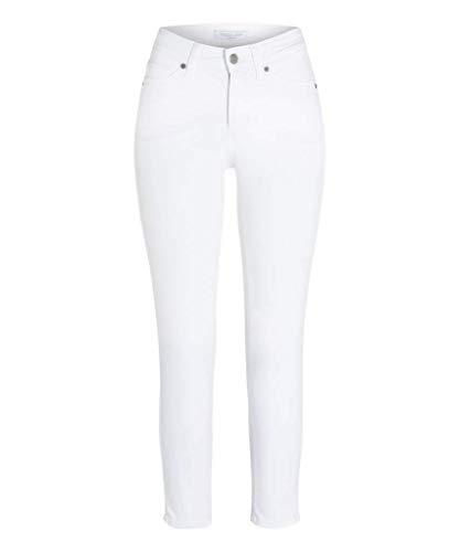 Cambio Damen Jeans im 5-Pocket Style Piper Short Größe 3827 Weiß (weiß)