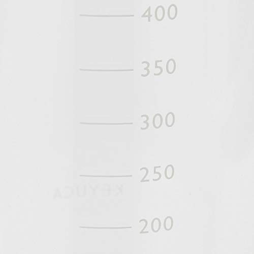 KEYUCA(ケユカ)RelioⅣオイルボトルホワイト(450ml/液体調味料入れ)耐熱ガラス液だれ防止機能付き50ml刻みの目盛り付き密封タイプ