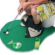 Highsound Toilet Golf, Potty Putter Set Bathroom Game Mini Golf Set Golf Putting Novelty Set, Play Golf on The Toilet