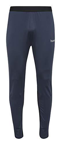 Hummel joggingbroek unisex lang - REFLECTOR TECH FOOTBALL PANT - fitnessbroek zwart en blauw - sportbroek vrouwen en mannen - hardloopbroek XXS, XS, S, M, L, XL, XXL
