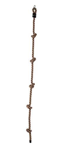 HorBous Kletterseil für Kinder mit 5 Knoten 2 m x 26 mm ab 3 Jahren (A)