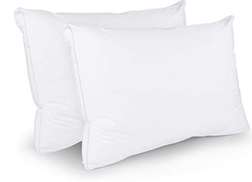 Utopia Bedding Cotton Gusseted Pillow (2-Pack) - Luxury Side...