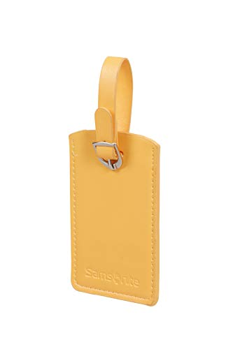 Samsonite Global Travel Accessories Rectangle Luggage Tag, 10.2 cm, Yellow (Sunflower)