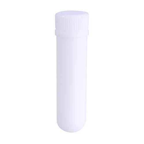 Healifty 12pcs Tubes vierges inhalateurs vides à l'huile essentielle rechargeable avec 12pcs coton-tige en acétate
