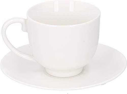 alpina Geschirr Kaffee Set 12-Einheiten - Espressotassen mit Untertassen - Keramik - 31 x 17.5 x 7 cm - Weiß