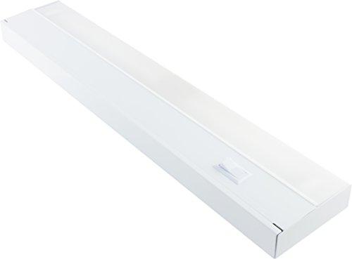GE 10143 48' Fluorescent Light Fixture, 48 Inch, White
