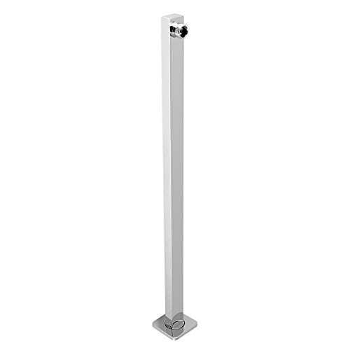 60 cm Square extension Braccio doccia rettangolare Braccio fisso per soffione a pioggia Cromo Braccio doccia parete flangia soffione pioggia