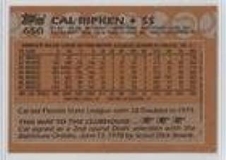 Cal Ripken Jr. (Baseball Card) 1988 Topps - [Base] - Blank Front #650
