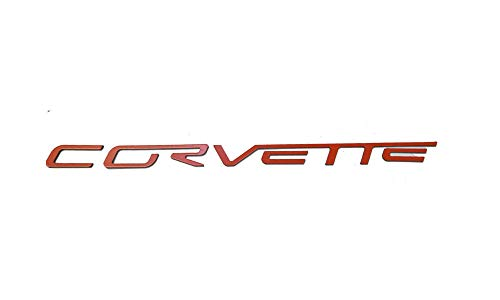 SF Sales USA - Orange Plastic Letters fit Corvette C6 2005-2012 Rear Bumper Inserts Not Decals