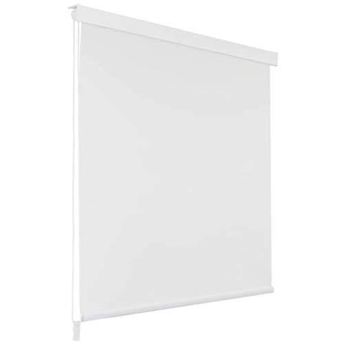vidaXL Duschrollo 140x240cm Weiß Duschvorhang Dusche Rollo Badewannenvorhang