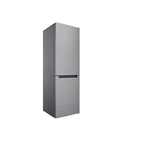 Indesit INFC8 TI21X Kühl-Gefrier-Kombination, freistehend, 335 l, F, Edelstahl