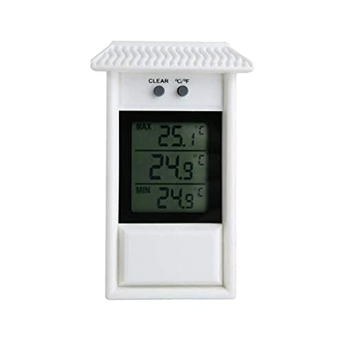 HCFSUK Waterproof Digital Outdoor Thermometer Hygrometer Refrigerator Temperature Humidity Meter