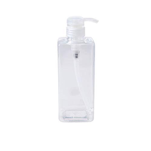 QKJZWJ 600 ml mit Pumpe Dispensaer, Pumpflasche Transparente Kunststoff-Flaschen, für Shampoo Conditioner Duschgel DIY Lotion Massage Oil