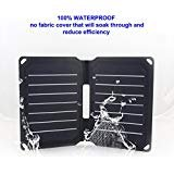 FlexSolar 8.5W Foldable Solar Charger, Waterproof Sunpower Solar Charger Panel, Mobile Solar Charger for Power Bank, iPhone & All 5V Electronic Devices