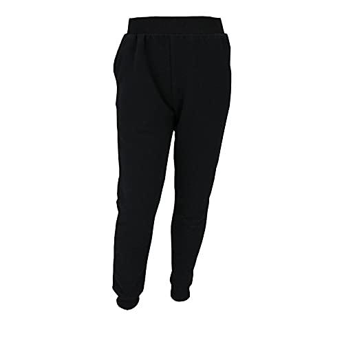 TupTam Jungen Jogginghose Trainingshose Sporthose mit Bündchen Sweathose, Farbe: Schwarz, Größe: 116